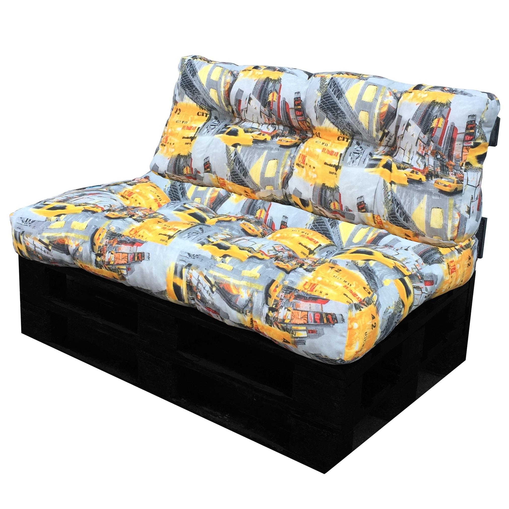 Cuscino per bancale seduta e schienale per divano pallet in tessuto fantasia ebay - Divano pallet schienale ...