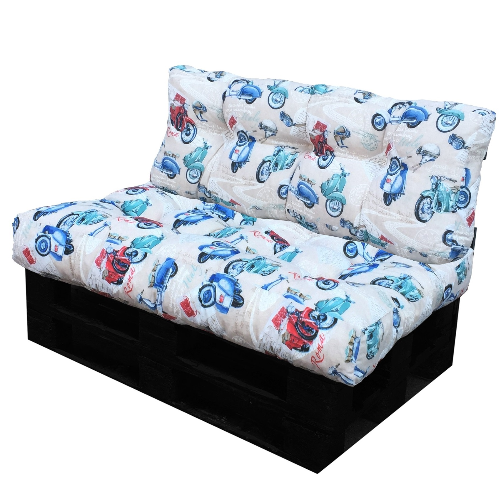 Cuscino per bancale seduta e schienale per divano pallet - Cuscino per divano ...