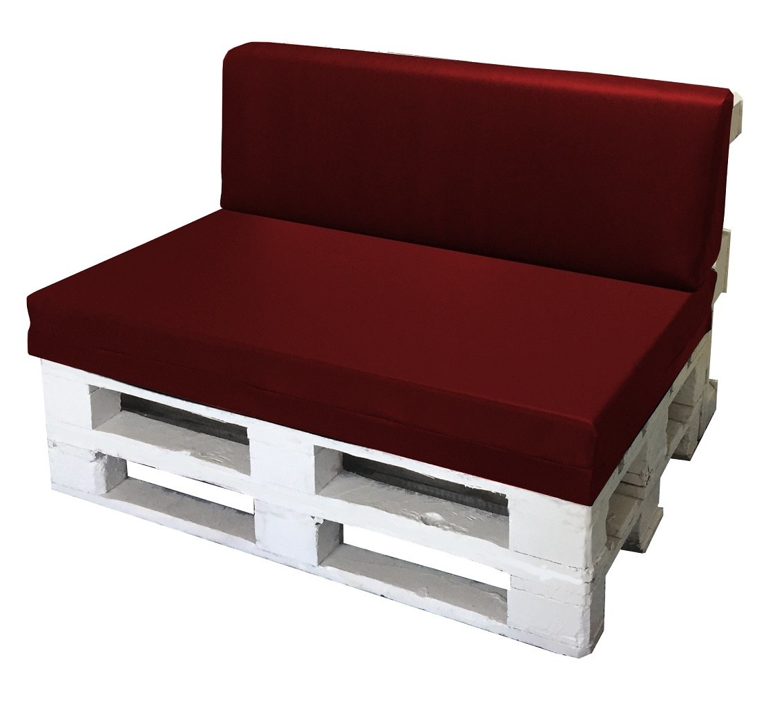 Set cuscino per bancale seduta schienale divano pallet - Pulizia divano ecopelle ...