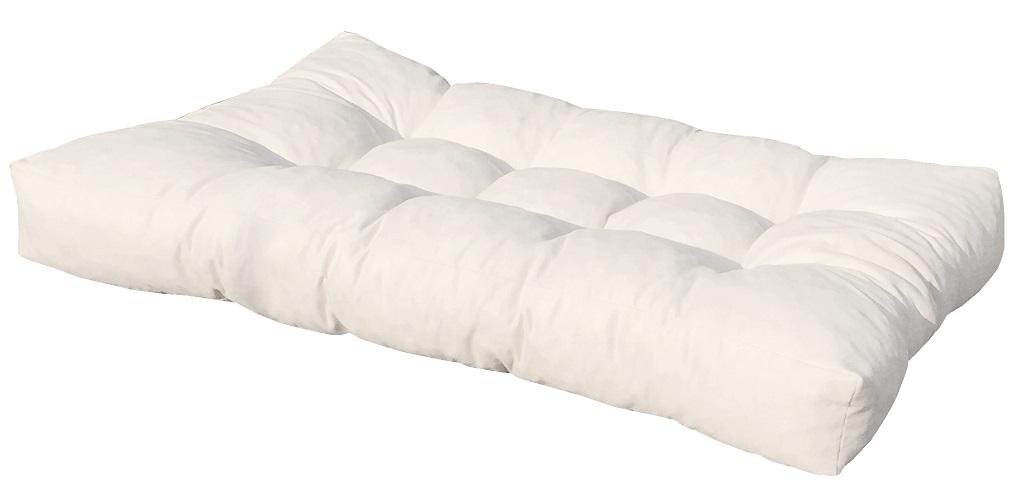 Cuscino per bancale misura 80x120x15 seduta divano pallet ecopelle bianco ebay - Pulizia divano ecopelle ...