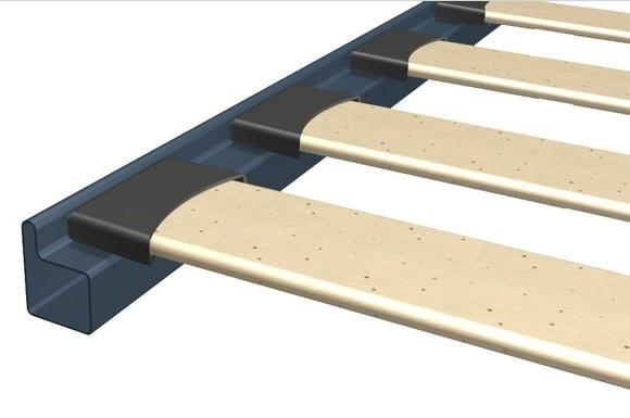 Rete a doghe 80x200 cm da incasso senza piedi per letti for Rete per letto singolo ikea